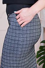 """Женская юбка """"Рита"""" клетка размеры 44-52, фото 3"""