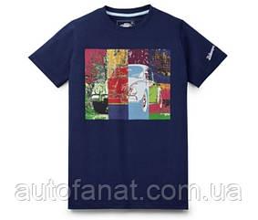 Оригинальная мужская футболка Volkswagen T-Shirt Classic, Beetle Pop Art, Men's, Dark Blue (311084200A)