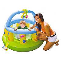 Манеж детский М48474 надувной, круглый, 130-104см, фото 1