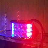 Світлодіодна Фара з функцією стробоскопа червоний і синій, фото 3