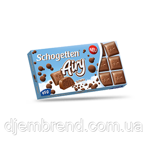 Шоколад Schogetten, Пористый молочный щоколад 100 г Германия