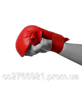 Рукавички для карате PowerPlay 3027 Червоні