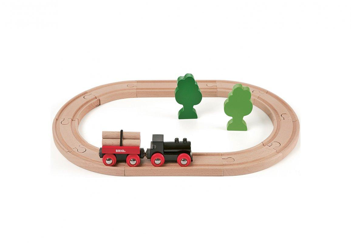 Железная дорога BRIO Деревянная ж/д с грузовым поездом 33042