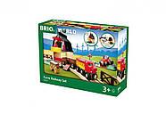 Железная дорога BRIO Деревянная ж/д с переездом и мини-фермой 33719, фото 9