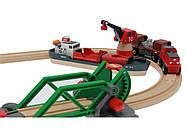 Железная дорога BRIO Деревянная железная дорога Порт с паромом 33061, фото 2