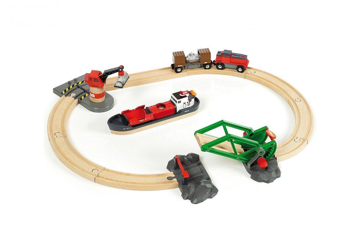 Железная дорога BRIO Деревянная железная дорога Порт с паромом 33061
