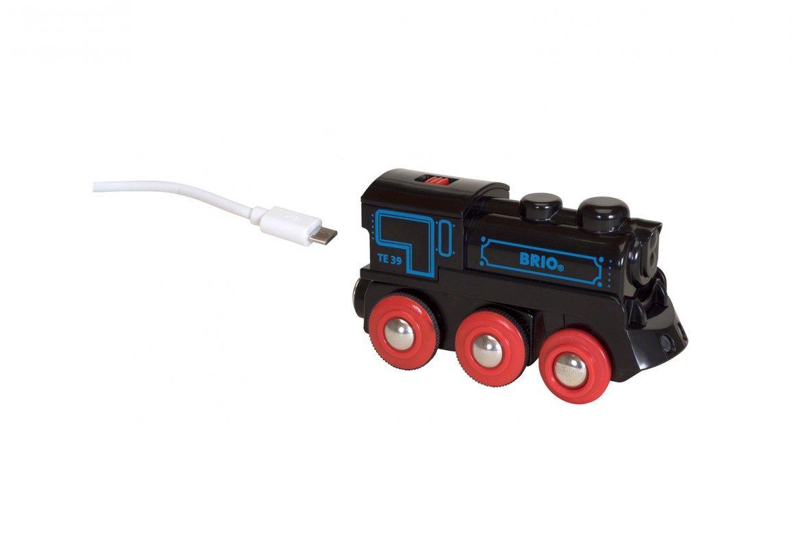 BRIO World АКСЕССУАРЫ ТРАНСПОРТ Паровоз с USB подзарядкой 33599