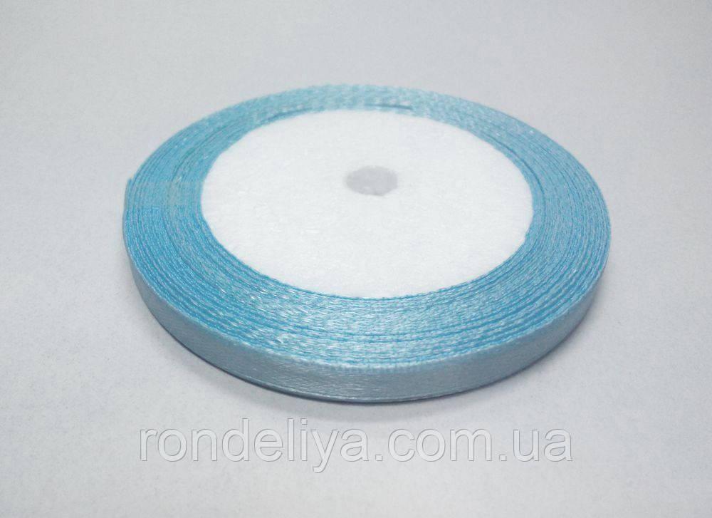 Стрічка атлас 0,6 см 23 метри блакитна