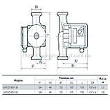 Циркуляционный насос Sprut GPD 25-6S-180, присоединительный комплект, фото 2