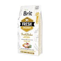 """Сухой корм Brit Fresh Chicken with Potato Adult Great Life """"Свежая курица с картофелем"""" 28/16 (для взрослых собак), 2.5кг"""