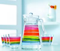 Color pencil Набор для воды - 7 пр.(кувшин 1,3 л, стакан 310 мл  - 6 шт)  Luminarc N0792