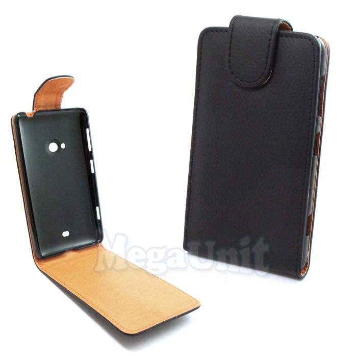 Откидной чехол-флип для Nokia Lumia 625 Черный