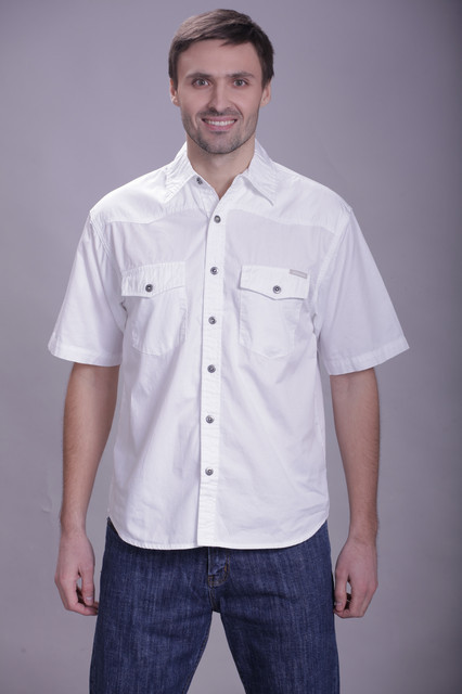 Белая мужская рубашка Montana