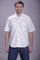 Мужская рубашка MONTANA белого цвета, короткий рукав