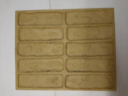 Полиуретановые силиконовые формы для плитки Бостон кирпича из гипса, фото 2