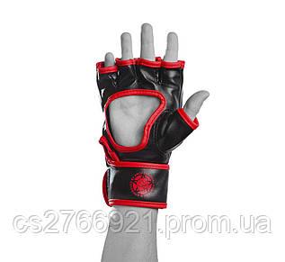 Рукавички для MMA PowerPlay 3055 Червоно-Чорні