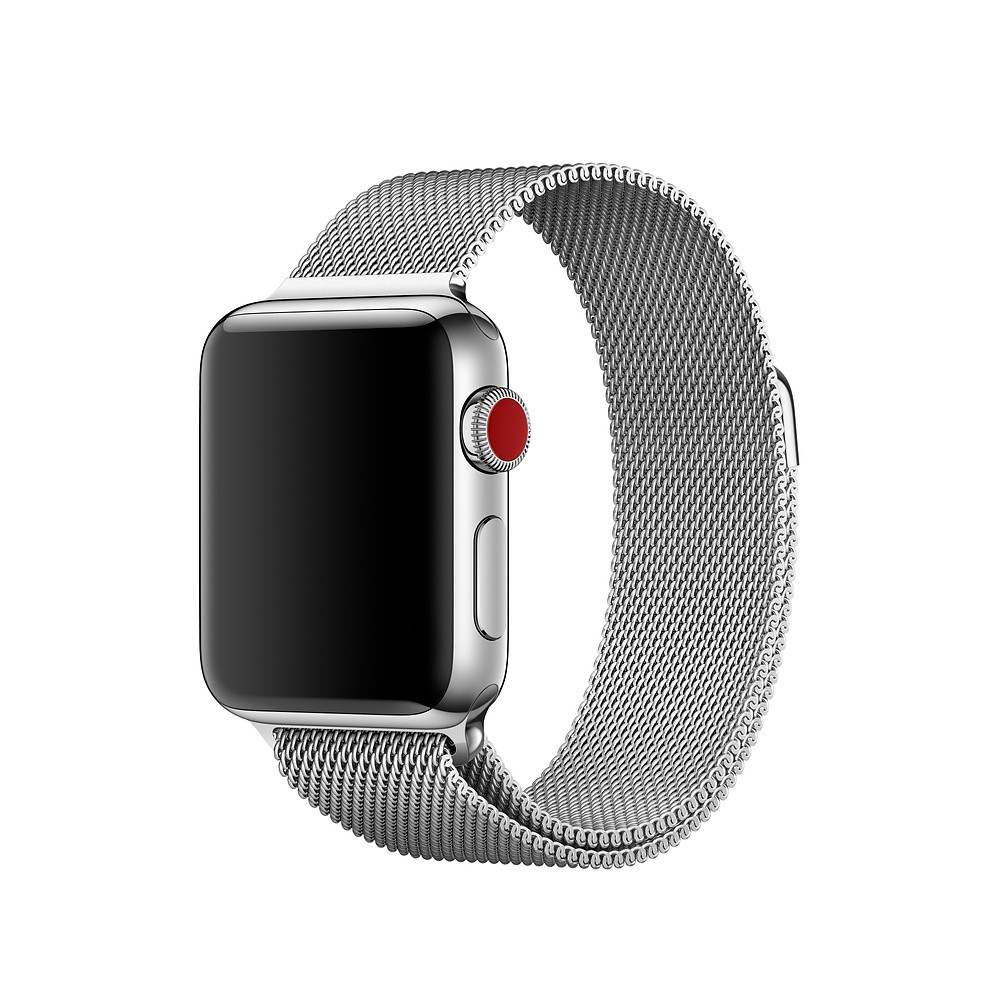 Миланский сетчатый браслет Milanese Loop Band for Apple Watch 38/40 mm silver