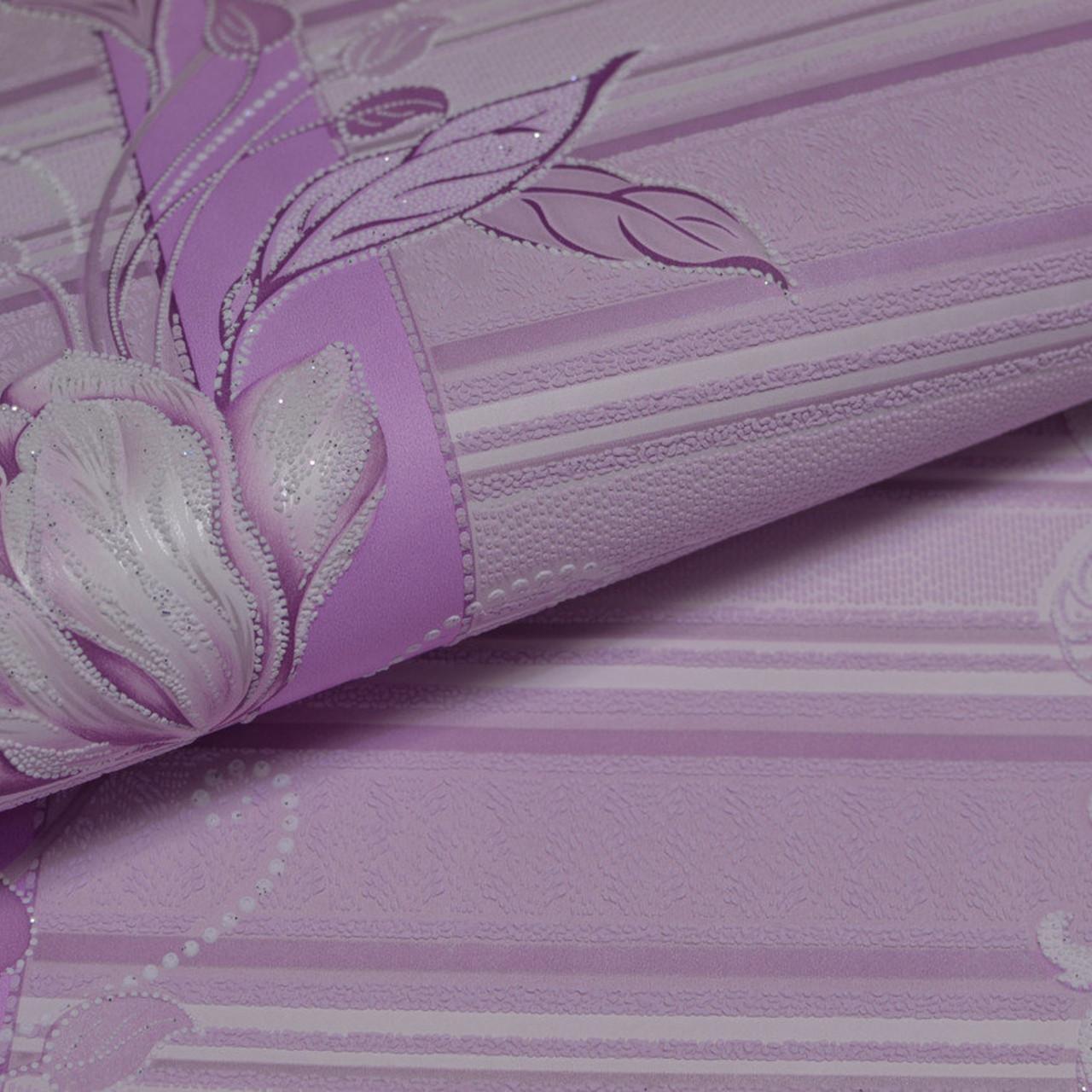 Обои, обои на стену, цветы, розовый, акриловые на бумажной основе, B76,4 Марго 7019-06, 0,53х10м