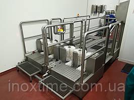 Підібрати санітарно-гігієнічне обладнання для комплектації санітарного шлюзу(санпропускника) харчового підприємства.