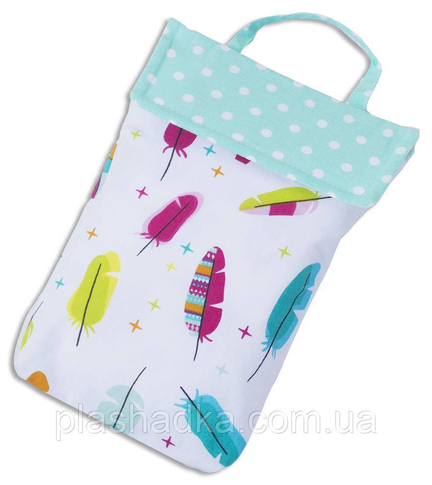 Кармашек для памперсов в сумку ORGANIZE E003 перья
