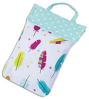 Кармашек для памперсов в сумку ORGANIZE E003 перья, фото 1