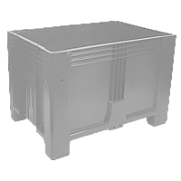 Пластиковый контейнер 1200 х 800 х 800 пищевой 510 л без колес серый Kayalarplastik