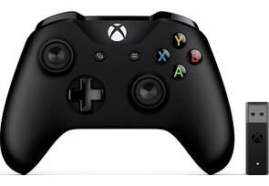 Геймпад (Джойстик) Microsoft Xbox One Black Wireless Controller + Adapter for Windows