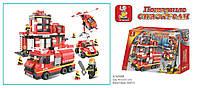 Детский конструктор Пожарные спасатели SLUBAN 693 детали