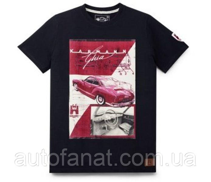 Оригинальная мужская футболка Volkswagen T-Shirt Classic, Karmann Ghia, Men's, Dark Blue (311084200ARW5)