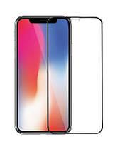 Защитное цветное стекло Mocolo (full glue) на весь экран для Apple iPhone XS Max (6.5) Черный (27407)