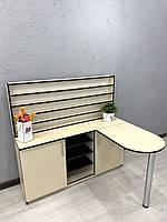 Угловой стол для маникюра со складной столешницей