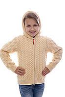Куртка для девочки вязаная на флисе