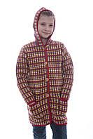 """Пальто вязаное для девочки """"бордо"""""""