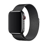 Миланский сетчатый браслет Milanese Loop Band for Apple Watch 38/40 mm black space