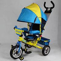 Трёхколёсный велосипед TURBOTRIKE M5361-01UKR, НАДУВНЫЕ РЕЗИНОВЫЕ КОЛЁСА
