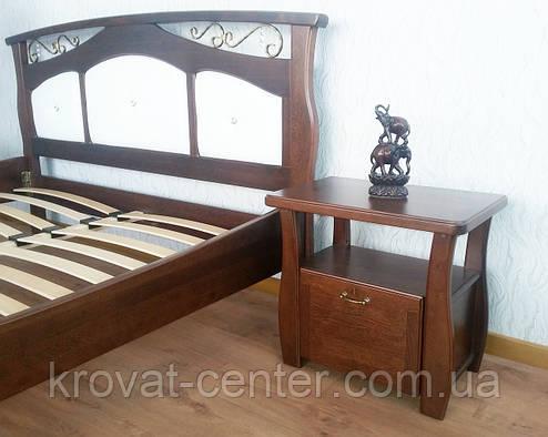 """Тумбочка из массива натурального дерева для спальни """"Грета Вульф"""" от производителя, фото 2"""