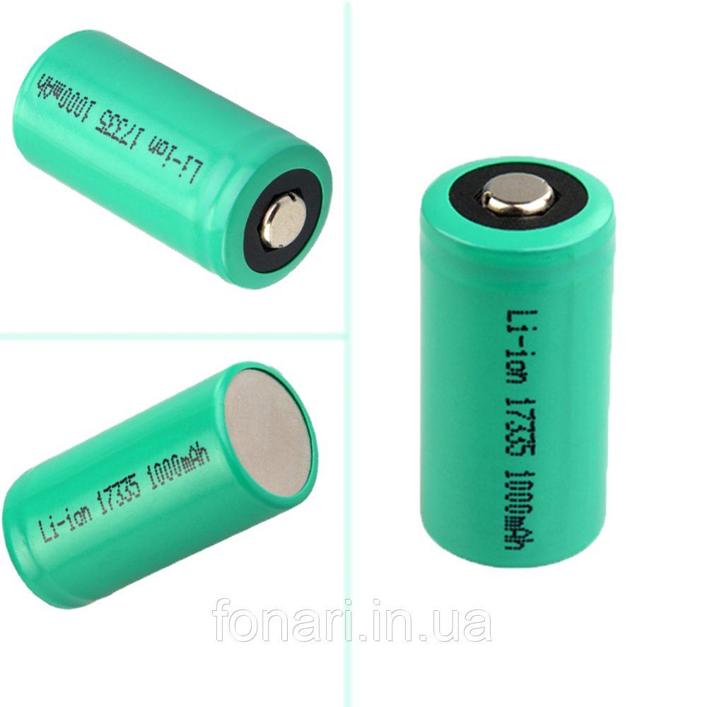 Аккумулятор TrustFire/UltraFire CR123A (16340/17335) Li-Ion 3V, 1000 mAh