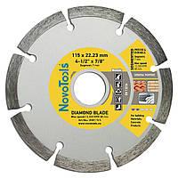 Диск алмазный по бетону, камню для болгарки 115х7х22,23 NovoTools Basic