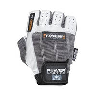 Перчатки для фитнеса и тяжелой атлетики Power System Fitness PS-2300 Grey-White M - 145465