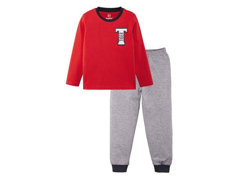 Пижама длинный рукав красная кофта, серые штаны  р.86/92см.
