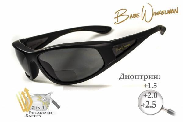 Бифокальные очки с поляризацией BluWater Winkelman EDITION 2 Gray +2,0 дптр