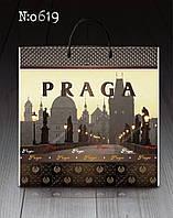 """Сумка с пластиковой ручкой """"Прага"""" без ручки (10 шт)заходи на сайт Уманьпак"""