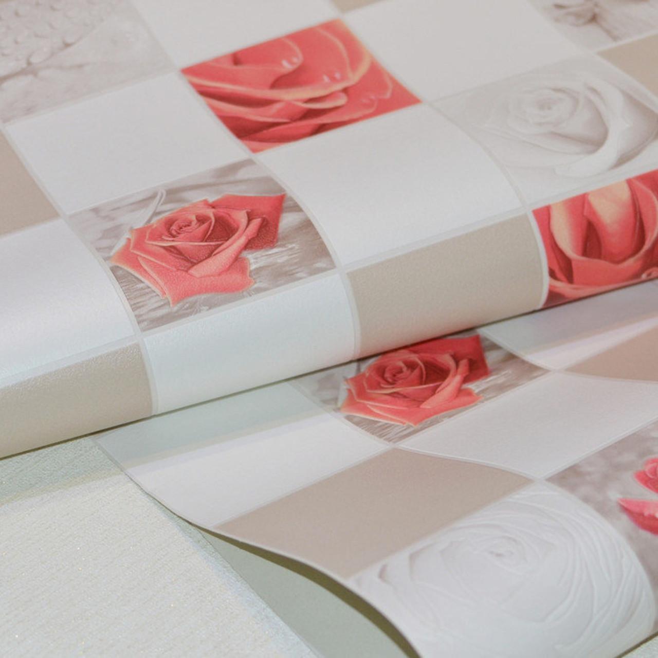 Обои, на стену, яркий рисунок, розы, бежевый, виниловые,В49,4 Алмаз 5507-01,супер мойка, 0,53*10м