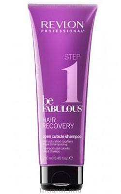 Revlon be Fabulous Hair Recovery Open Cuticle Shampoo Шампунь, открывающий кутикулу 250 мл.