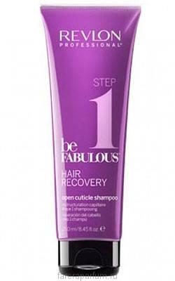 Revlon be Fabulous Hair Recovery Open Cuticle Shampoo Шампунь, открывающий кутикулу 250 мл., фото 2
