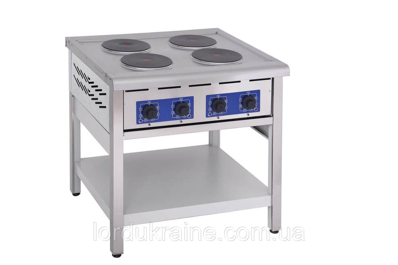 Плита электрическая профессиональная без духовки ПЭ-4КР Кий-В