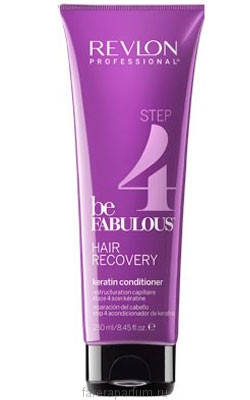 Revlon be Fabulous Hair Recovery Keratin Conditioner Кондиционер с кератином 250 мл., фото 2