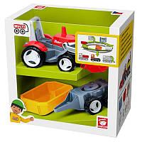 Игрушка MULTIGO 1+2 - TRACTOR трактор с прицепами 6407151