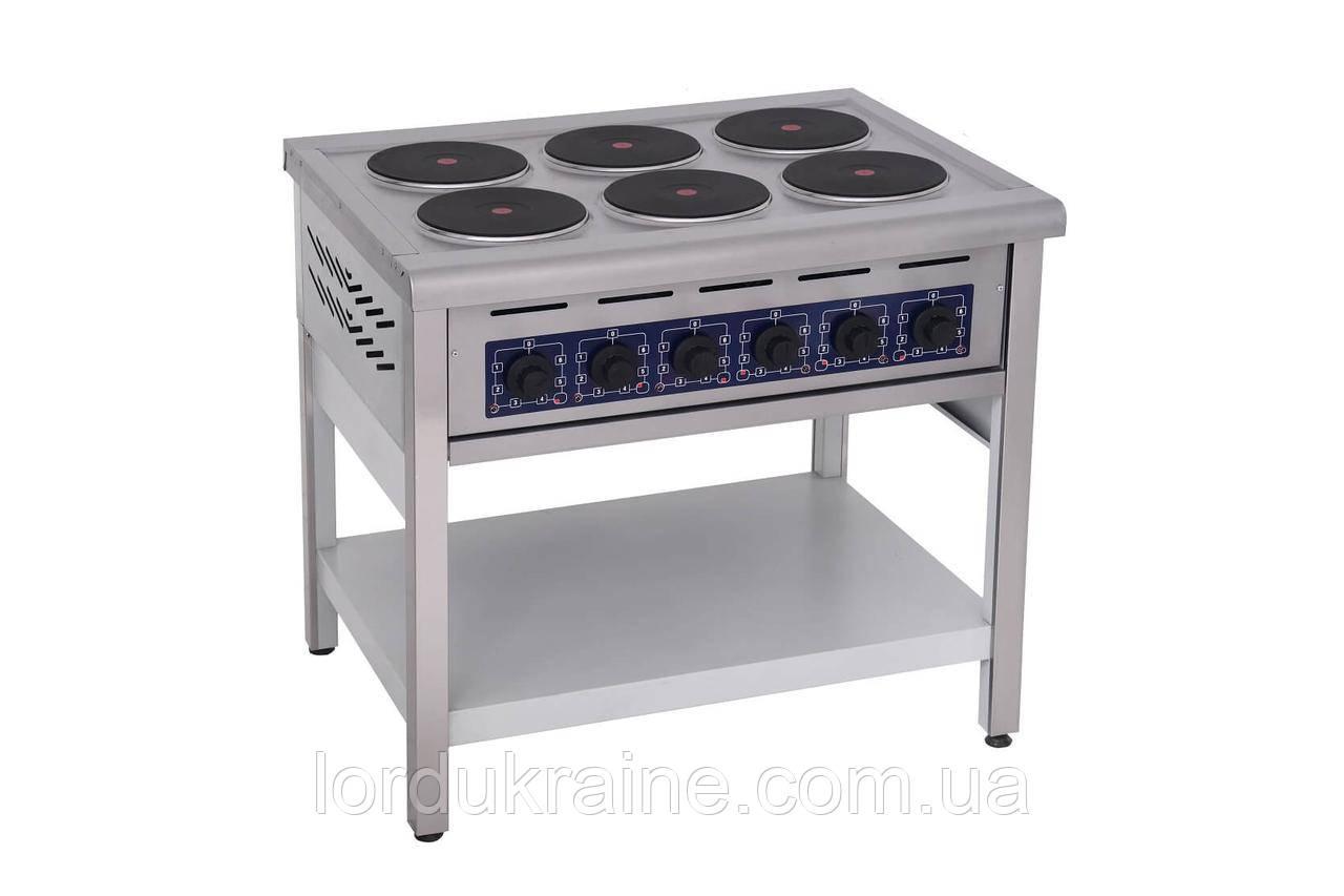 Плита электрическая профессиональная без духовки ПЭ-6КР Кий-В