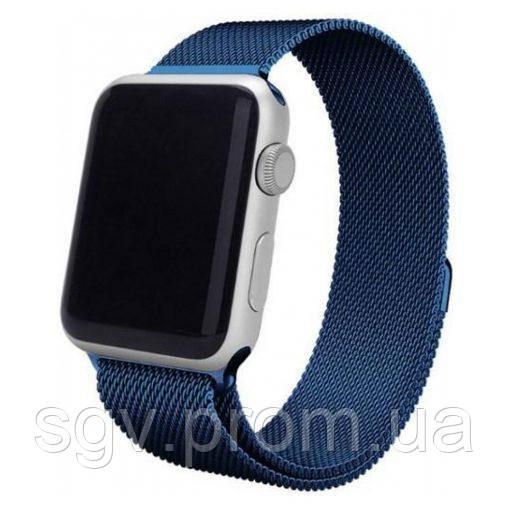 Миланский сетчатый браслет Milanese Loop Band for Apple Watch 38/40 mm blue